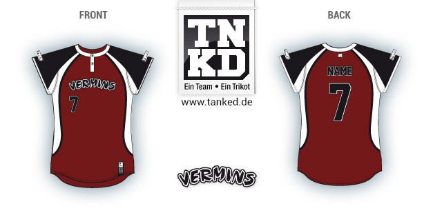 Wesseling Vermins (Softball) - Jersey Pop-Up  von TANKED