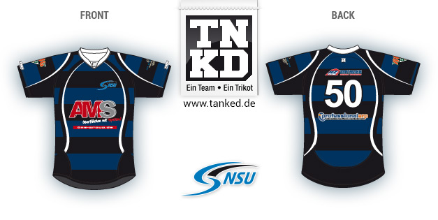 Neckarsulmer Union (Rugby) - Jersey Pop-Up  von TANKED