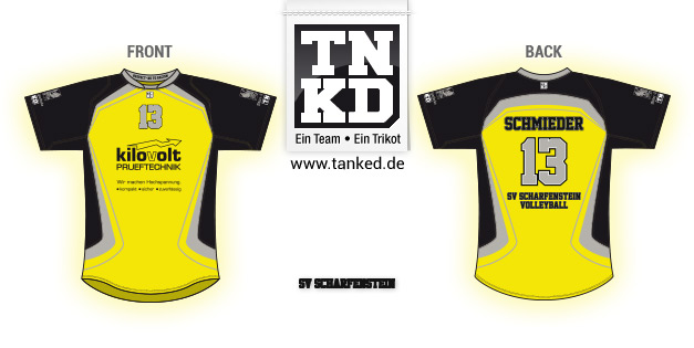SG Scharfenstein (Volleyball) - Jersey Pop-Up  von TANKED