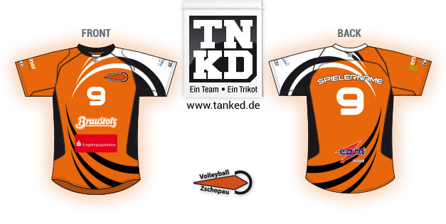 TSV Zschopau (Volleyball) - Jersey Pop-Up  von TANKED