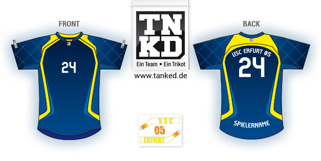 VSC Erfurt 05 (Volleyball) - Jersey Pop-Up  von TANKED