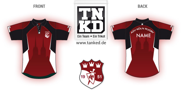 ASV Köln (Rugby) - Jersey Pop-Up  von TANKED