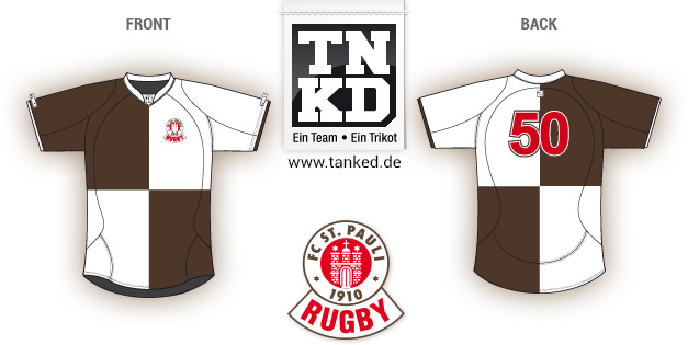 St. Pauli (Rugby) - Jersey Pop-Up  von TANKED