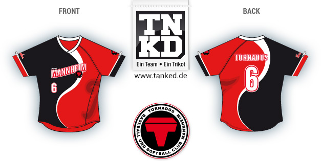 Mannheim Tornados (Softball) - Jersey Pop-Up  von TANKED