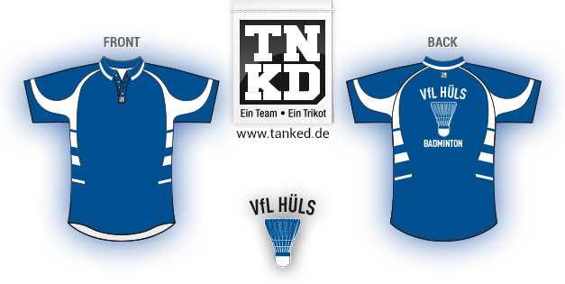 VFL Hüls (Badminton) - Jersey Pop-Up  von TANKED