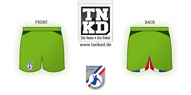 Bramstedter TS (Handball) - Shorts Home Keeper  von TANKED