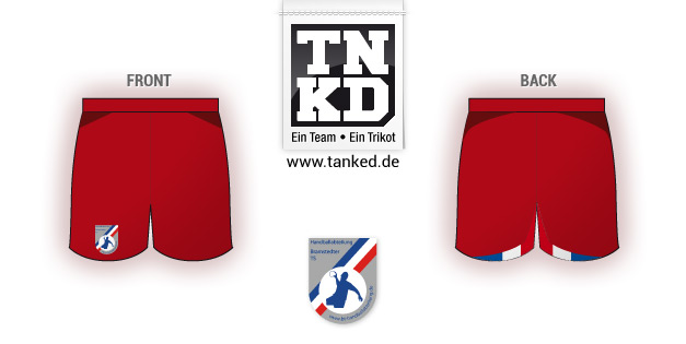 Bramstedter TS (Handball) - Shorts Away  von TANKED
