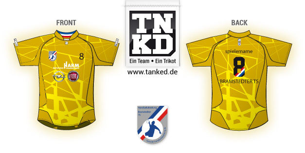 Bramstedter TS (Handball) - Jersey Away Keeper  von TANKED