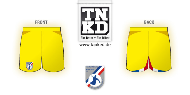Bramstedter TS (Handball) - Shorts Away Keeper  von TANKED
