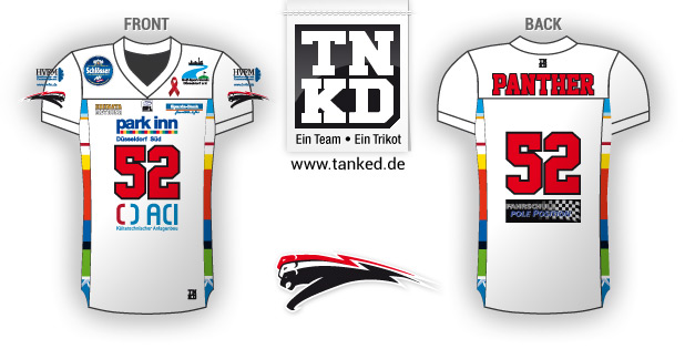 Düsseldorf Panther (American Football) - Jersey Away  von TANKED