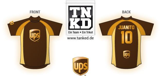 UPS (Fußball) - Jersey Home  von TANKED