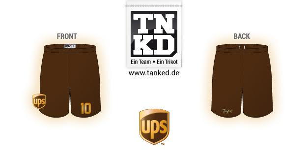 UPS (Fußball) - Shorts Home  von TANKED