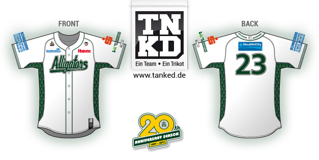 Solingen Alligators (Baseball) - Jersey Home  von TANKED