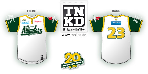 Solingen Alligators (Baseball) - Jersey Away  von TANKED