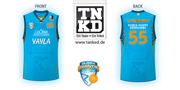 Gloria Giants Düsseldorf (Basket-ball) - Jersey Home  par TANKED