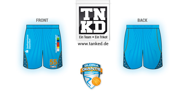 Gloria Giants Düsseldorf (Basketball) - Shorts Home  von TANKED