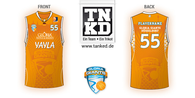 Gloria Giants Düsseldorf (Basketball) - Jersey Away  von TANKED