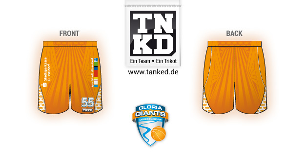 Gloria Giants Düsseldorf (Basketball) - Shorts Away  von TANKED