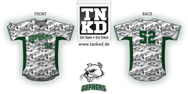 Pullheim Gophers (Baseball) - Jersey Home  von TANKED