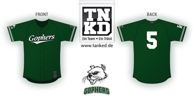 Pullheim Gophers (Baseball) - Jersey Away  von TANKED
