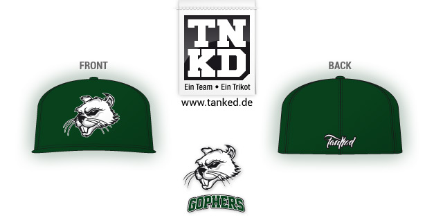 Pullheim Gophers (Baseball) - Cap Home  von TANKED