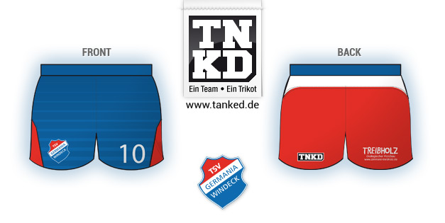 TSV Germania Windeck (Volleyball) - Shorts Home  von TANKED