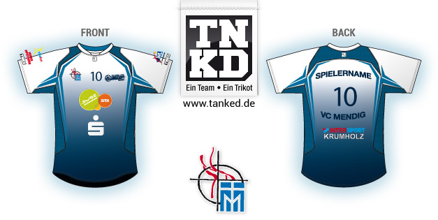 VC Mendig (Volleyball) - Jersey Away  von TANKED