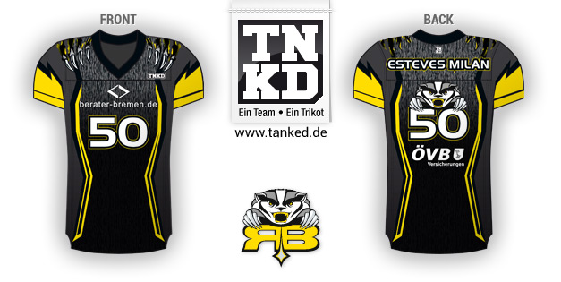 Ritterhude Badgers (American Football) - Jersey Home  von TANKED