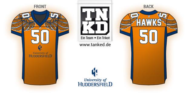 Huddersfield Hawks (AMFootball) - Jersey Home  von TANKED