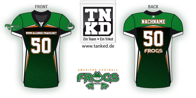 Neuss Frogs (AMFootball) - Jersey Home  von TANKED