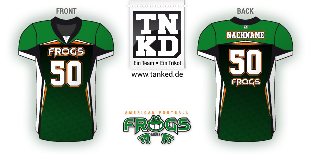 Neuss Frogs (AMFootball) - Jersey Youth Away  von TANKED