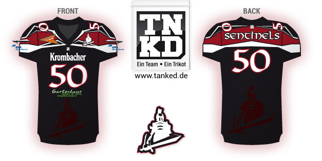 Siegen Sentinels (American Football) - Jersey Home  von TANKED