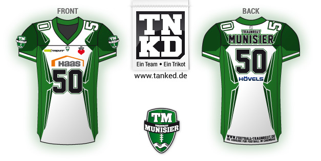 Traunreut Munisier (AMFootball) - Jersey Home  von TANKED