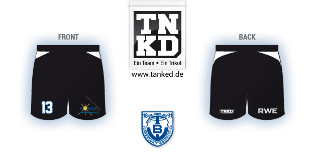 TB Wülfrath (Handball) - Shorts Home  von TANKED