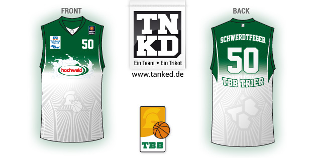 Tbb Trier (Basket-ball) - Jersey Home  par TANKED