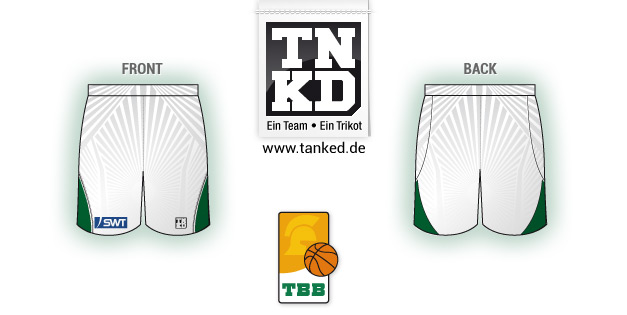 Tbb Trier (Basket-ball) - Shorts Home  par TANKED