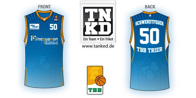 Tbb Trier (Basketball) - Jersey Away  von TANKED