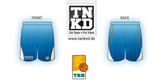Tbb Trier (Basketball) - Shorts Away  von TANKED