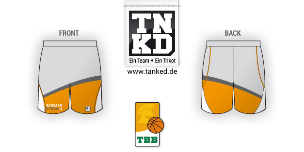 Tbb Trier (Basket-ball) - Shorts Away  par TANKED