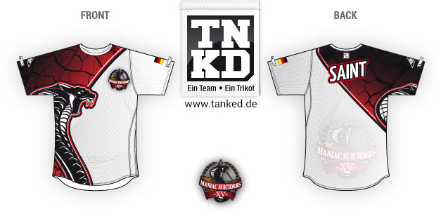 Maniac Suiciders (eSports) - Jersey Home  von TANKED