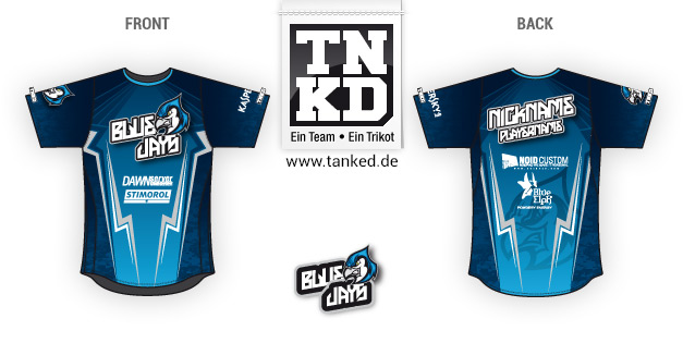 Blue Jays (eSports) - Jersey Pop-Up  von TANKED