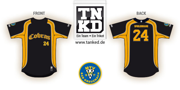 Bad Kreuznach Cobras (Baseball) - Jersey Pop-Up  von TANKED