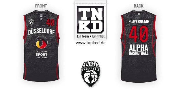 Alpha Basketball Düsseldorf (Basketball) - Jersey Pop-Up  von TANKED