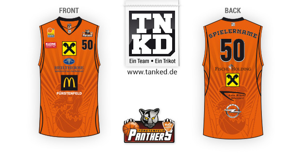 Fürstenfeld Panthers (Basketball) - Jersey Pop-Up  von TANKED