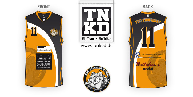 TLG Troisdorf (Basket-ball) - Jersey Pop-Up  par TANKED