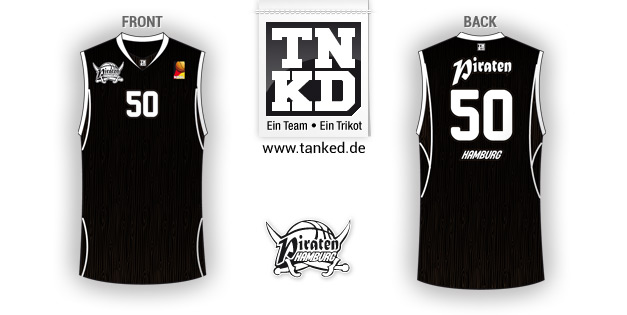 Hamburg Piraten (Basketball) - Jersey Home  von TANKED