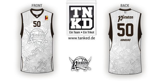 Hamburg Piraten (Basketball) - Jersey Away  von TANKED