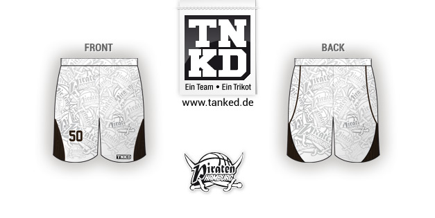 Hamburg Piraten (Basketball) - Shorts Away  von TANKED