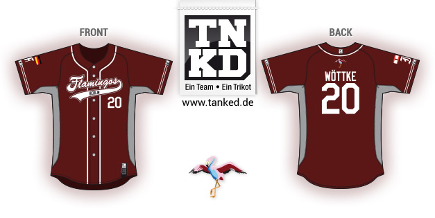 Berlin Flamingos (Baseball) - Jersey Pop-Up  von TANKED