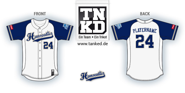 Hamburg Hanseatics (Baseball) - Jersey Pop-Up  von TANKED